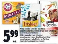 Arm & Hammer Cat Litter - Beneful Or Dog Chow Dog Food - Friskies Or Cat Chow Cat Food