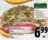 New Zealand Spring Lamb Boneless Mediterranean Lamb Leg
