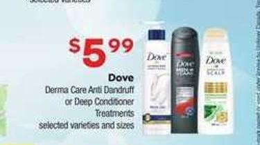 Dove Derma Care Anti Dandruff Or Deep Conditioner Treatments