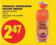 Thomas Cinnamon Raisin Bread - 675 g