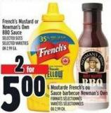 French's Mustard Or Newman's Own Bbq Sauce