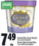 Coconut Bliss Frozen Dessert