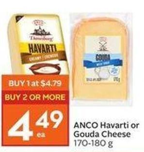 Anco Havarti or Gouda Cheese 170-180 g