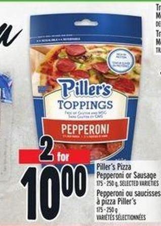 Piller's Pizza Pepperoni Or Sausage