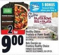 Healthy Choice Frontera Or Power Bowls