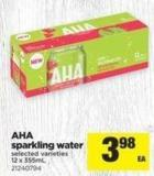 Aha Sparkling Water - 12 X 355ml