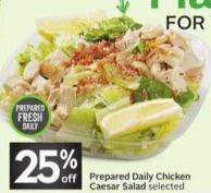 Prepared Daily Chicken Caesar Salad