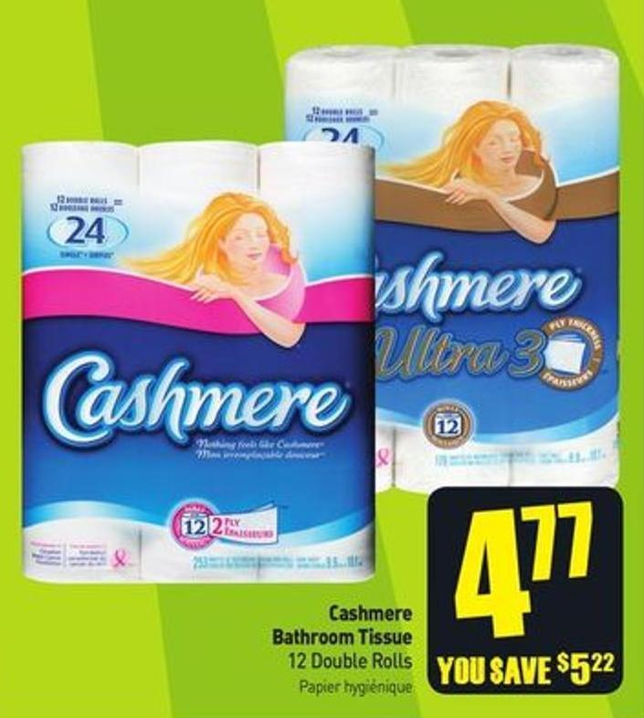 Cashmere Bathroom Tissue 12 Double Rolls