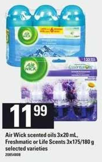 Air Wick Scented Oils 3x20 Ml - Freshmatic Or Life Scents 3x175/180 G