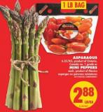 Asparagus Or Mini Peppers