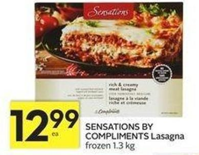 Sensations By Compliments Lasagna