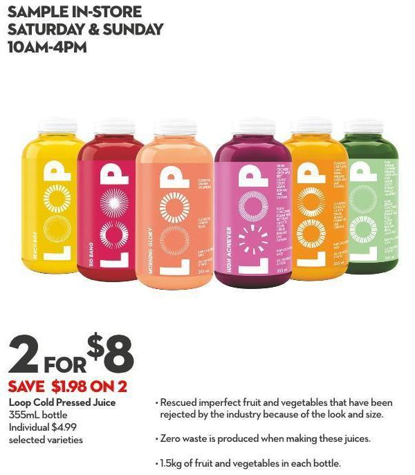 Loop Cold Pressed Juice 355ml Bottle