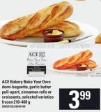 Ace Bakery Bake Your Own Demi-baguette - Garlic Butter Pull-apart - Cinnamon Rolls Or Croissants - 210-460 G