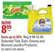 Selected Tide - Gain - Downy and Bounce Laundry Products