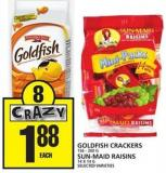 Goldfish Crackers Or Sun-maid Raisins