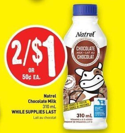 Natrel Chocolate Milk 310 mL