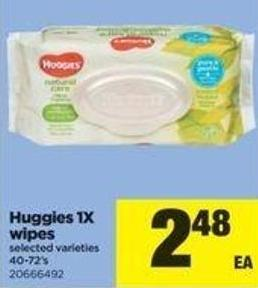 Huggies 1x Wipes - 40-72's