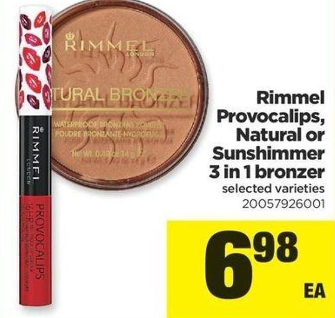Rimmel Provocalips - Natural Or Sunshimmer 3 In 1 Bronzer