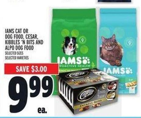 Iams Cat or Dog Food - Cesar - Kibbles 'N Bits and Alpo Dog Food