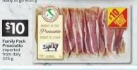 Family Pack Prosciutto Imported From Italy 225 g