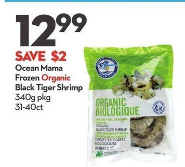 Ocean Mama Frozen Organic Black Tiger Shrimp
