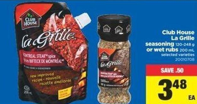 Club House La Grille Seasoning 120-248 G Or Wet Rubs 200 Ml