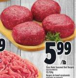 Store Made Seasoned Beef Burgers