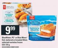 Bluewater - PC Or Blue Menu Fish - Battered Or Breaded Fillets - 525-725 G
