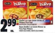 Stouffer's Or Lean Cuisine Entrées Or Pillsbury Pizza Pops