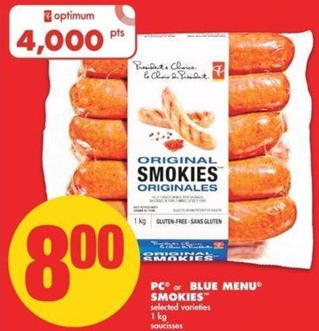 PC Or Blue Menu Smokies - 1 Kg