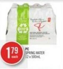 PC Spring Water 12 X 500ml