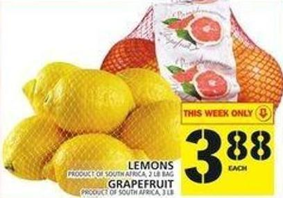 Lemons Or Grapefruit