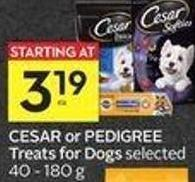 Cesar or Pedigree Treats For Dogs