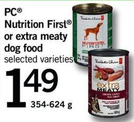 Nutrition First Or Extra Meaty Dog Food - 354-624 G