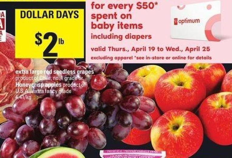 Extra Large Red Seedless Grapes - Honeycrisp Apples