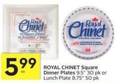 Royal Chinet Square Dinner Plates