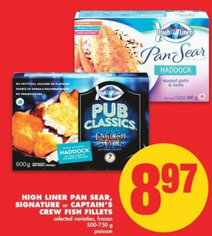 High Liner Pan Sear - Signature or Captain's Crew Fish Fillets - 500-750 g