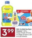 Mr. Clean Surface Cleaner 1.33 L Clean Freak 473 mL or Magic Eraser 2 Pk or 8 Pk Sheets