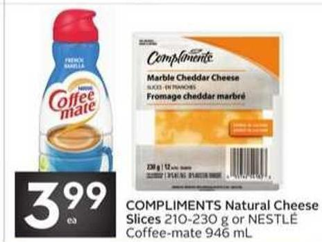 Compliments Natural Cheese Slices