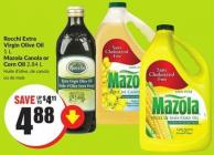Rocchi Extra Virgin Olive Oil 1 L Mazola Canola or Corn Oil 2.84 L