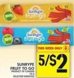 Sunrype Fruit To Go