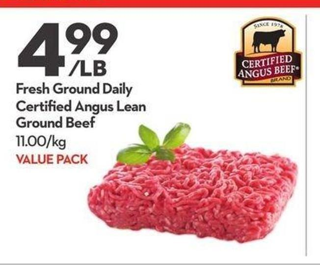 Fresh Ground Daily Certified Angus Lean Ground Beef
