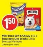 Milk-bone Soft& Chewy 113 g Snausages Dog Snacks 196 g