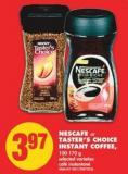 Nescafe or Taster's Choice Instant Coffee 100-170 g