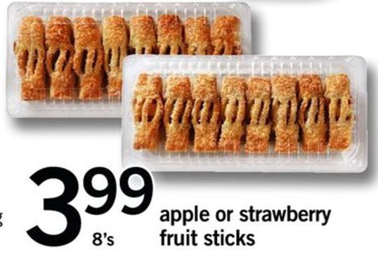 Apple Or Strawberry Fruit Sticks - 8's