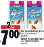 Blue Diamond Almond Beverages 1.89 L -