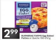 Burnbrae Farms Egg Bakes! &Chilled Patties