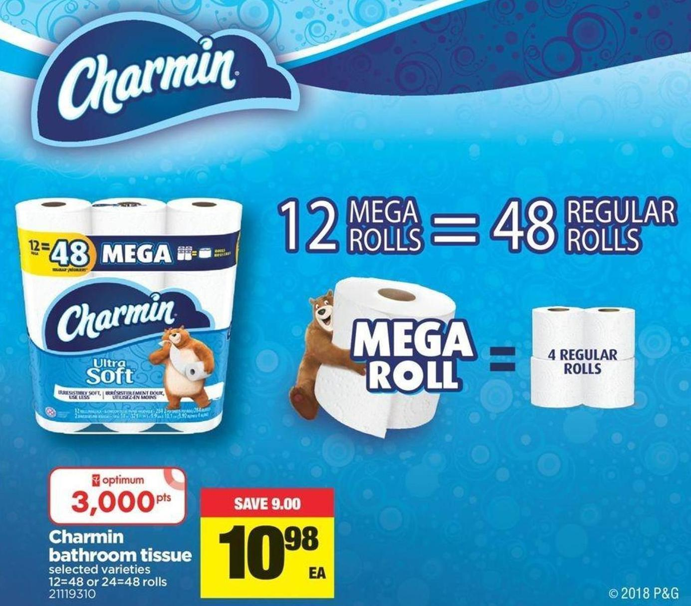 Charmin Bathroom Tissue - 12=48 or 24=48 Rolls
