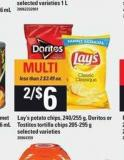 Lay's Potato Chips - 240/255 G - Doritos Or Tostitos Tortilla Chips 205-295 G