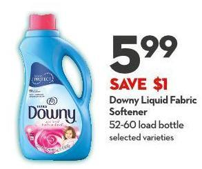 Downy Liquid Fabric Softener 52-60 Load Bottle